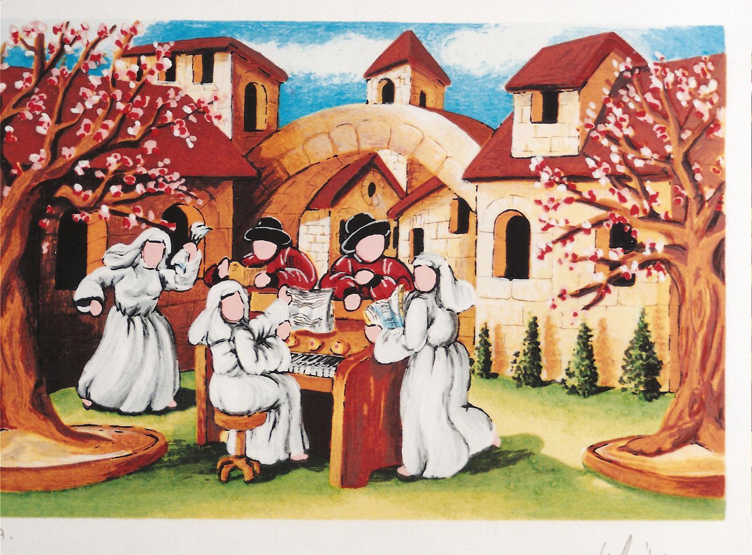 ulisse in arte concertino quadro serigrafia polimaterica