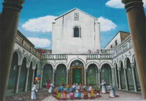 ULISSE IN ARTE LA BASILICA DI CAPUA GIROTONDO 40X60