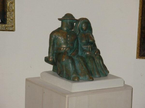 scultura in bronzo la coppia ulisse in arte