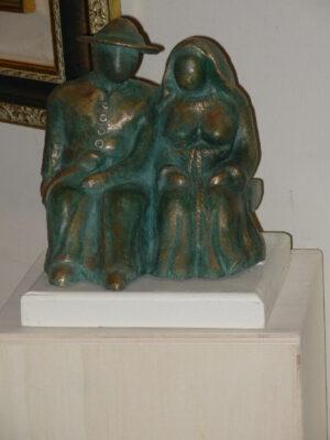 scultura in bronzo a cera persa la coppia ulisse in arte