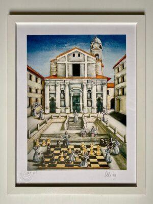 ulissexambalt partita a scacchi in piazza del papa ulisse ambalt onlus
