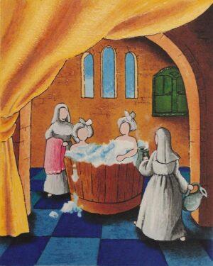 quadro arte pittore ulisse serigrafia al bagno