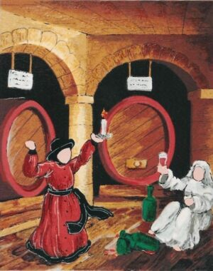 quadro arte pittore ulisse serigrafia bevuta serale