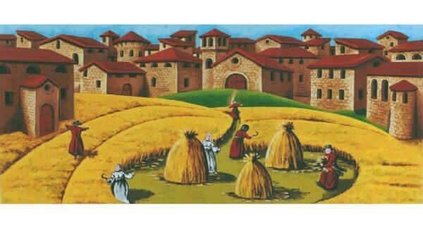 quadro arte pittore ulisse serigrafia campo di grano